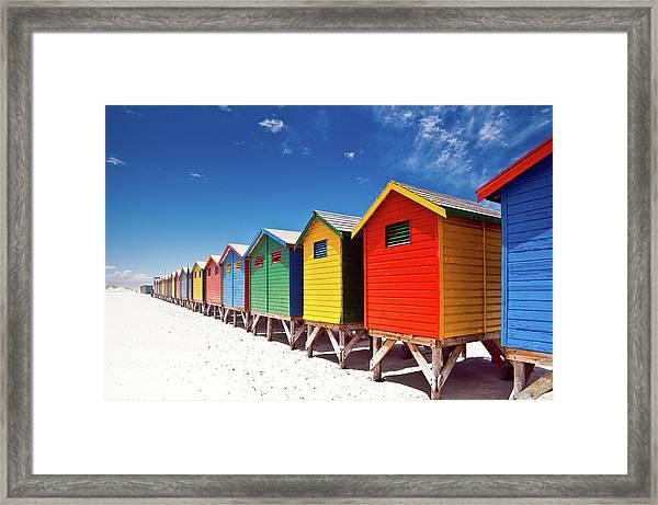 Muizenberg Beach Cape Town Framed Print