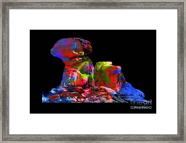 Mushroom Rock Framed Print