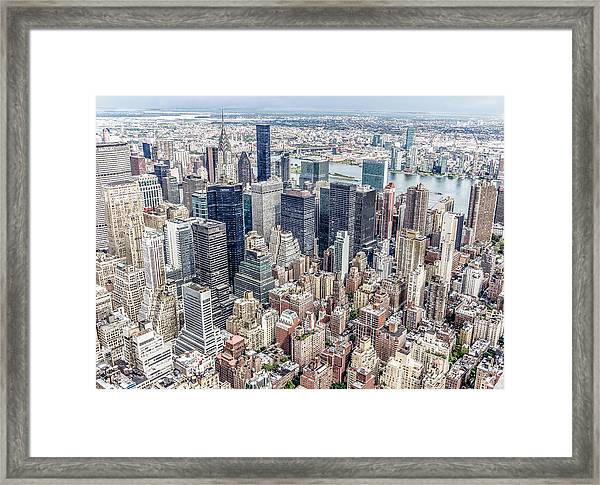 New York City From The Empire State Building Framed Print