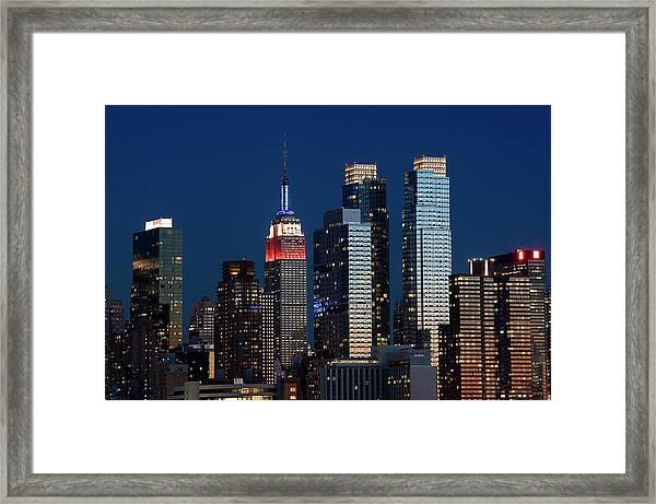 New York City Manhattan Framed Print
