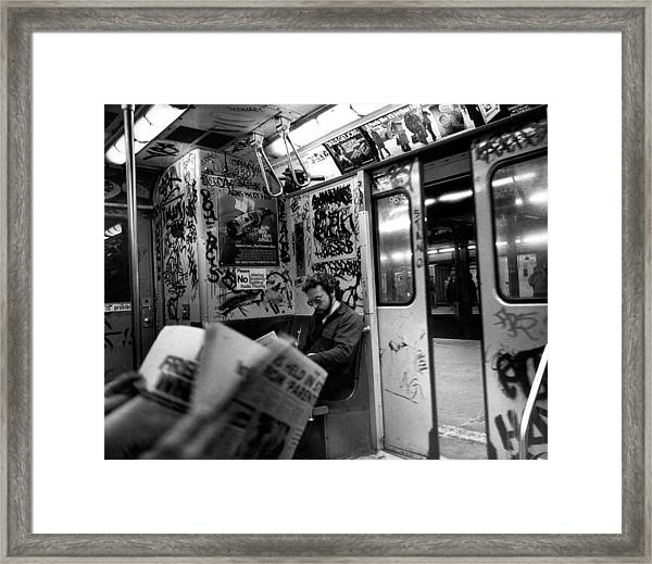 New York Subway Framed Print