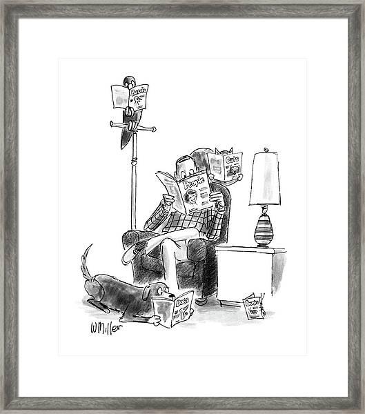 New Yorker June 15th, 1987 Framed Print
