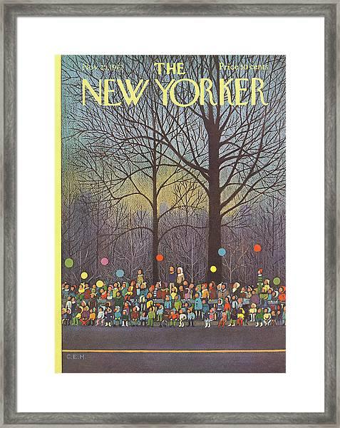New Yorker November 25th, 1972 Framed Print