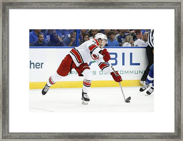 Nhl: Sep 27 Preseason - Hurricanes At Lightning Framed Print by Icon Sportswire