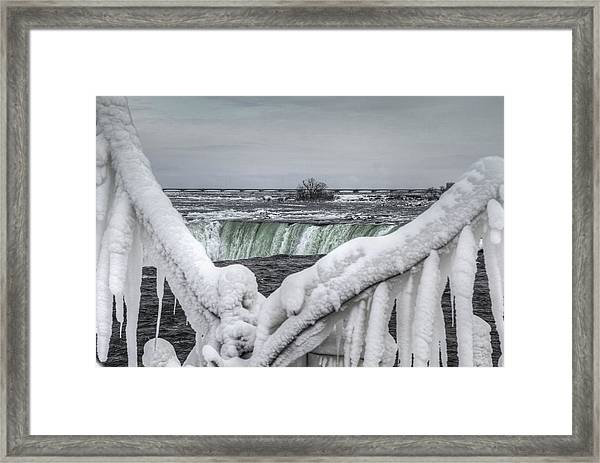 Niagara Falls In The Winter Framed Print