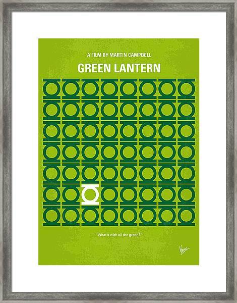 No120 My Green Lantern Minimal Movie Poster Framed Print