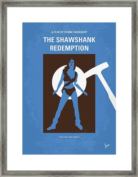 No246 My The Shawshank Redemption Minimal Movie Poster Framed Print
