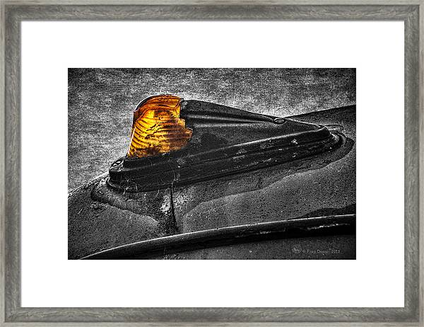 Nobody's Truck Running Light Framed Print