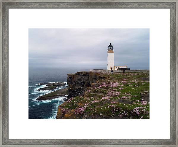 Noup Head Lighthouse Framed Print by Steve Watson