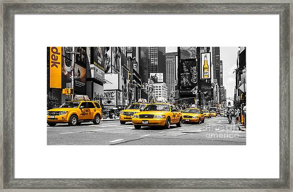 Nyc Yellow Cabs - Ck Framed Print