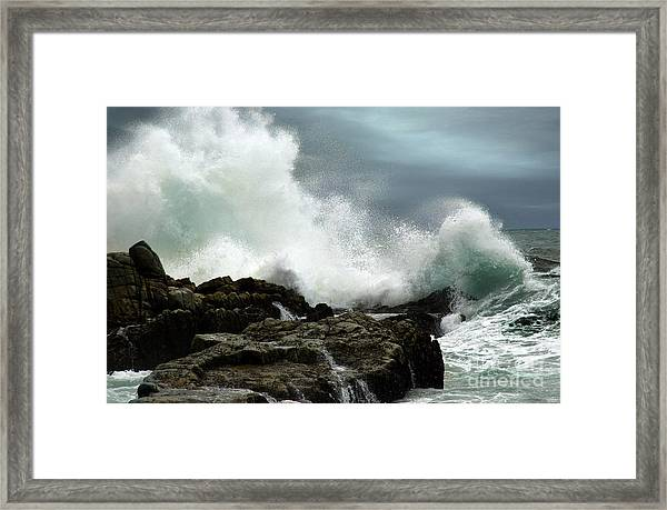 Framed Print featuring the photograph Neptune's Rath by Glenda Wright