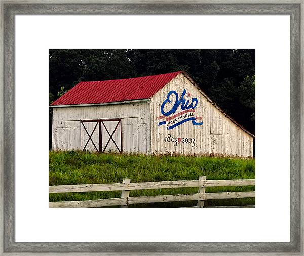 Ohio Bicentennial Barn Framed Print