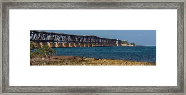 Old Bahia Honda Bridge Framed Print
