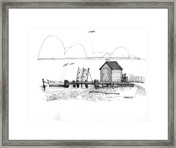 Old Fishermans Wharf Framed Print