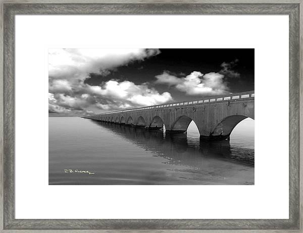 Old Seven Mile Bridge Florida Keys  Framed Print