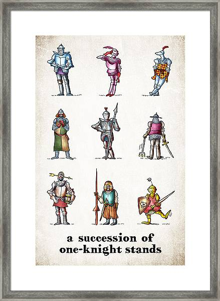 One Knight Stands Framed Print