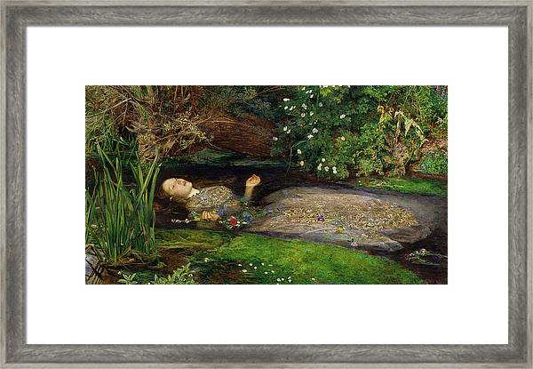 Framed Print featuring the painting Ophelia by John Everett Millais