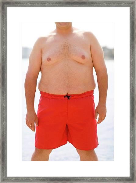 Overweight Man Framed Print