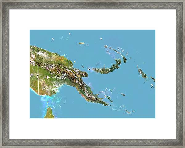 Papua New Guinea Framed Print by Planetobserver/science Photo Library