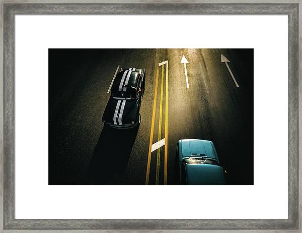 Passing Cars Framed Print by Yancho Sabev