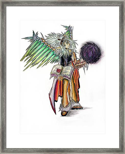 Pelusis God Of Law And Order Framed Print