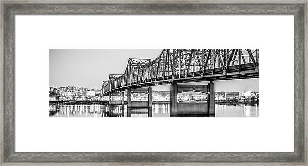 Peoria Illinois Bridge Panoramic Picture Framed Print