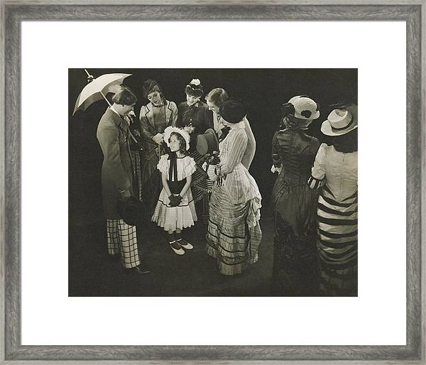 Performance Of As Thousands Cheer Framed Print by Edward Steichen