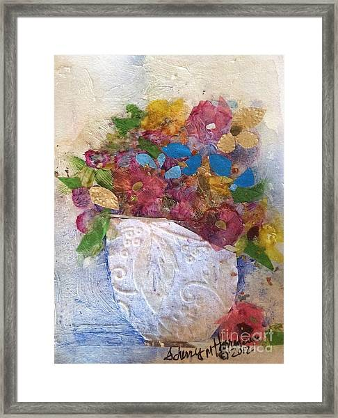 Petals And Blooms Framed Print
