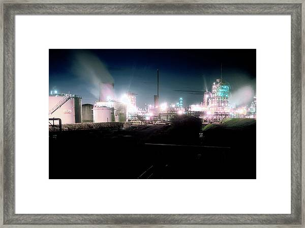 Petrochemical Plant Framed Print