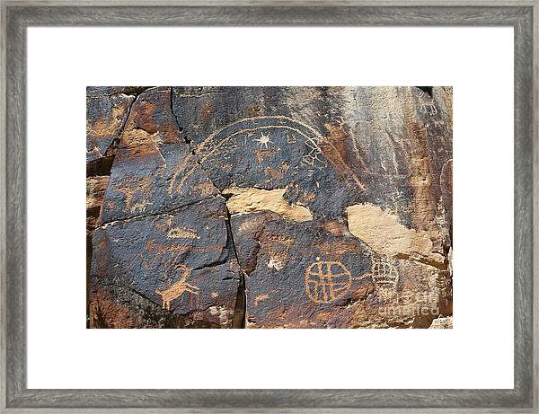 547p Petroglyph - Nine Mile Canyon Framed Print