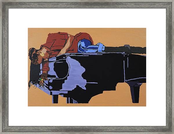 Piano And I Framed Print