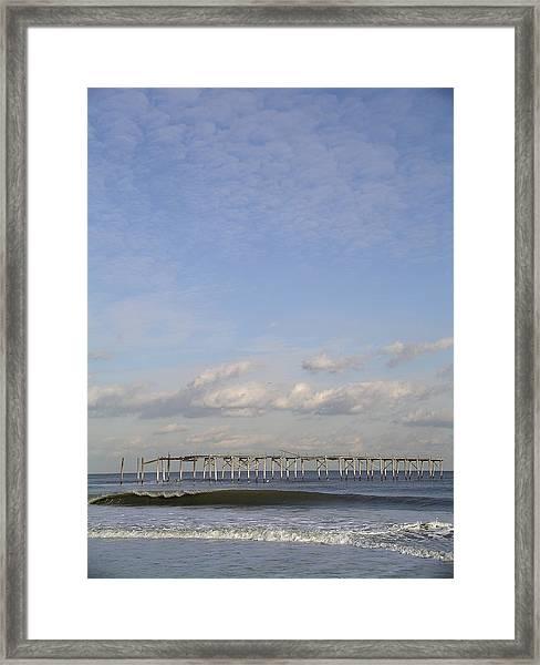 Pier Wave Framed Print