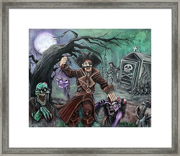 Pirate's Graveyard Framed Print by Laura Barbosa
