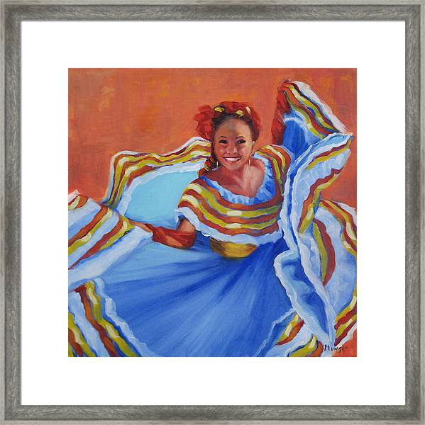 Pirueta Azul  Framed Print