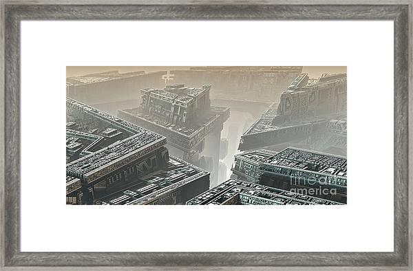 Polychrony Framed Print by Bernard MICHEL