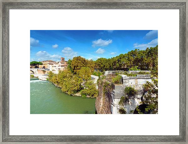 Ponte Emilio Today Called Ponte Rotto Framed Print by Nico Tondini