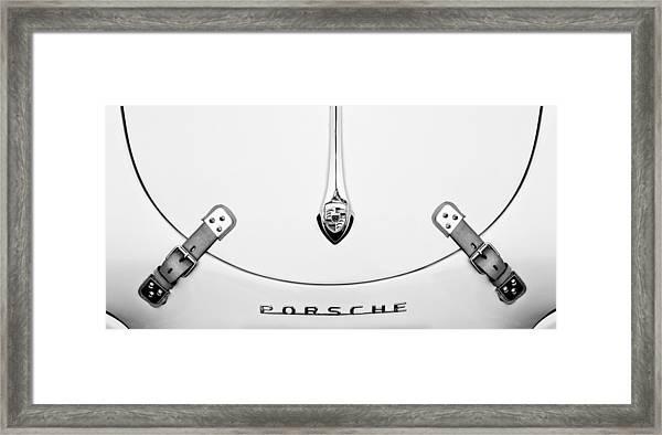 Porsche 1600 Hood Emblem Framed Print