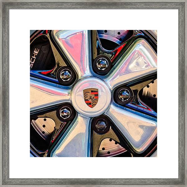 Porsche Wheel Rim Emblem Framed Print