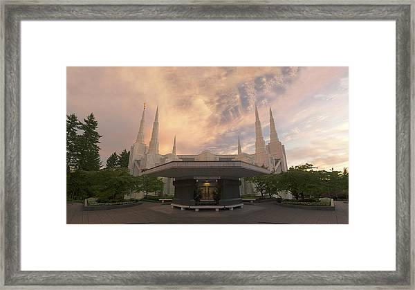 Framed Print featuring the photograph Portland Temple by Dustin  LeFevre