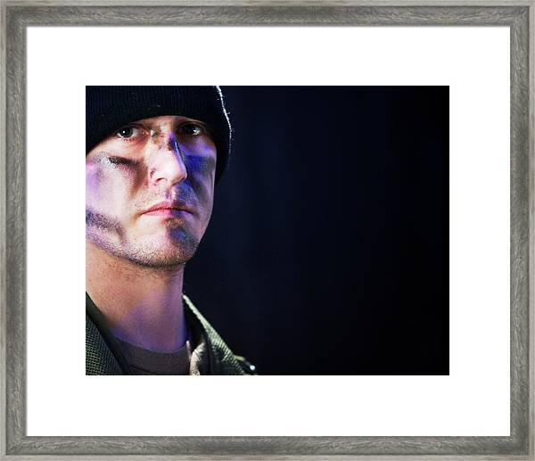 Portrait Of A Young Soldier Framed Print