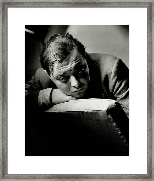 Portrait Of Actor Peter Lorre Framed Print
