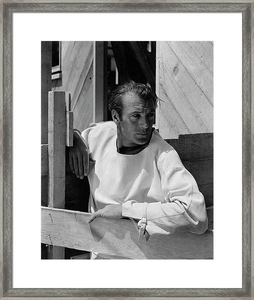 Portrait Of Gary Cooper Framed Print