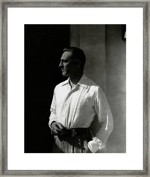 Portrait Of John Barrymore Framed Print
