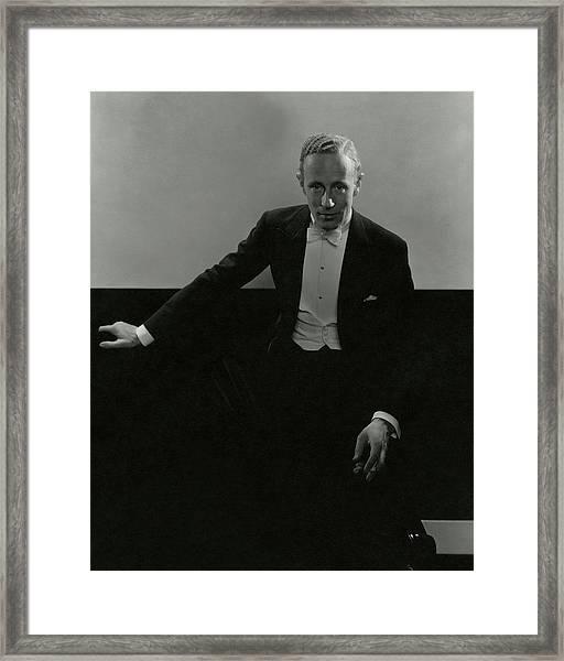 Portrait Of Leslie Howard Framed Print