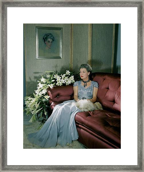 Portrait Of Mona Von Bismarck Framed Print