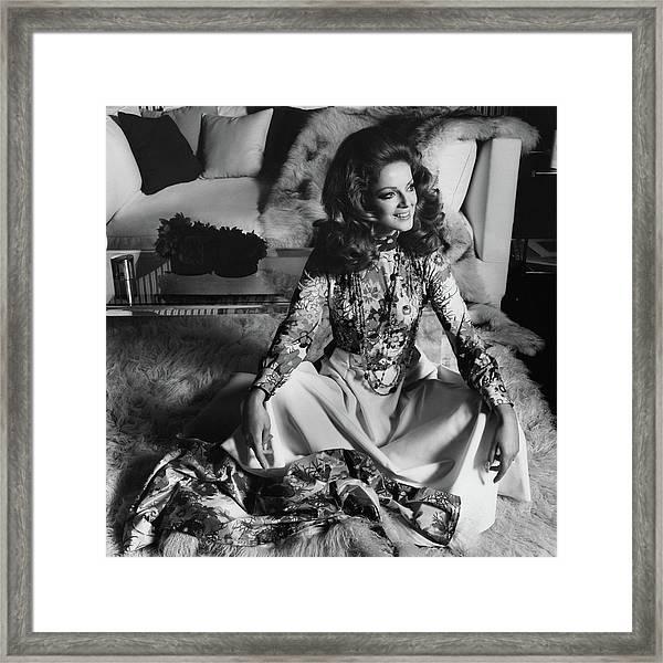Portrait Of Virna Lisi Framed Print