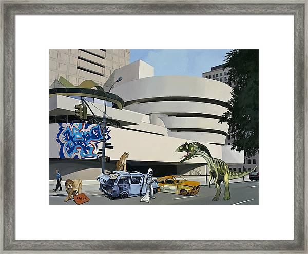 Post-nuclear Guggenheim Visit Framed Print