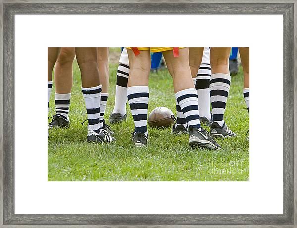 Powderpuff Footbal Framed Print