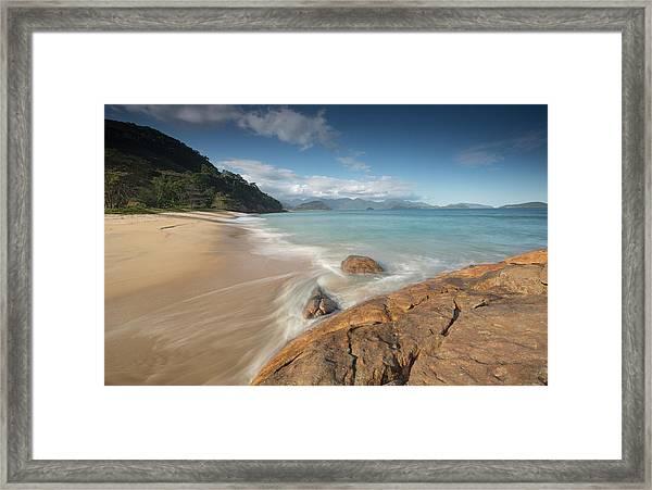 Praia Do Meio Beach In The Afternoon Framed Print