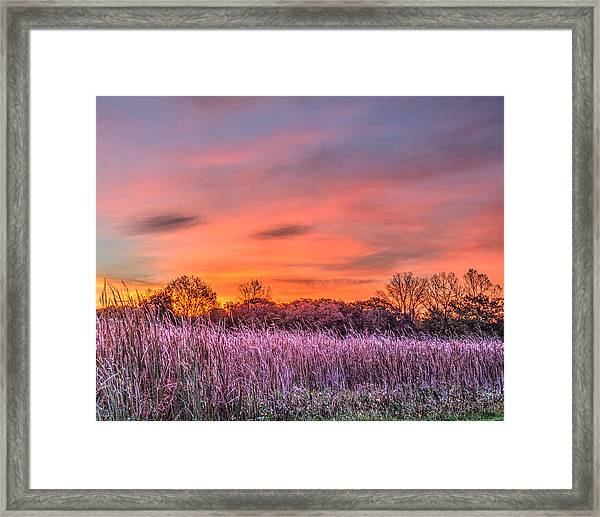 Illinois Prairie Moments Before Sunrise Framed Print